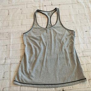 Zella Striped Racerback Tank Size Small